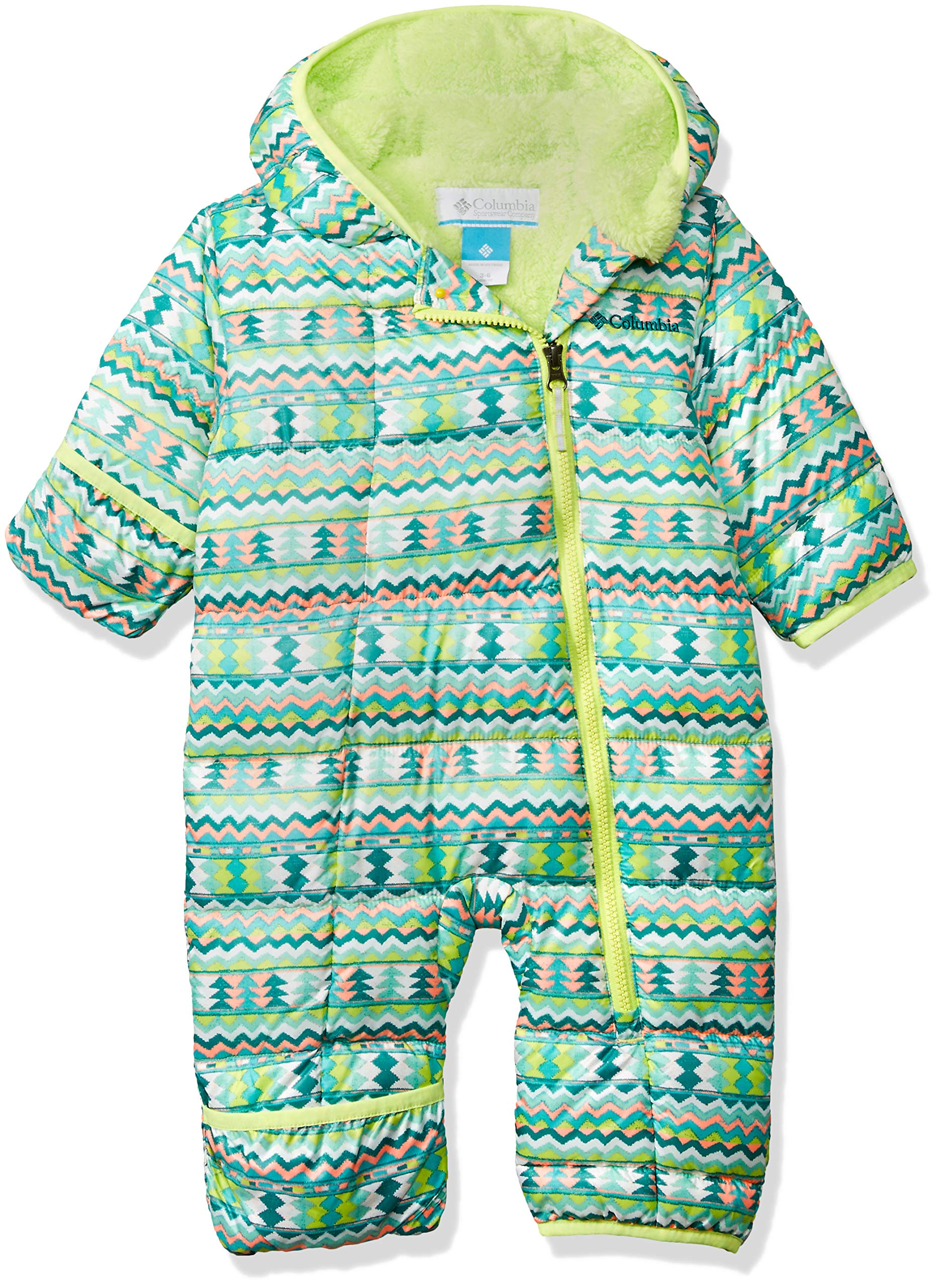 Columbia Unisex Baby Infant Frosty Freeze Bunting, Tippet Zigzag Print, 3/6 by Columbia