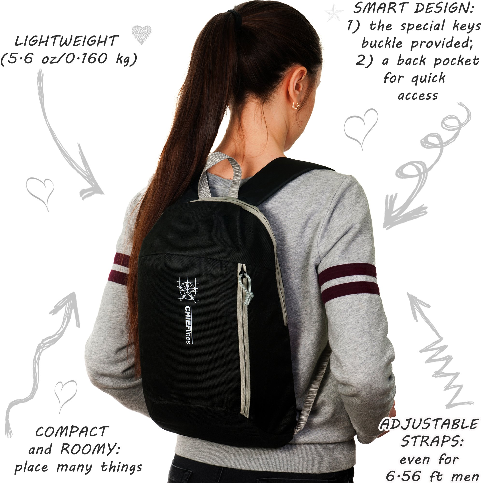 Backpack For Kids & Adults-10L Capacity-Hiking Daypack-Mini-Small Bookbags-For Everyday