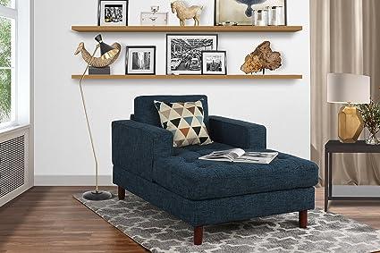 Amazon.com: Mid Century Modern Linen Fabric Living Room Chaise ...