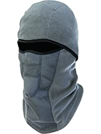 Ergodyne N-Ferno 6823 Winter Ski Mask Balaclava, Wind-Resistant Face Mask, Thermal Fleece, Gray