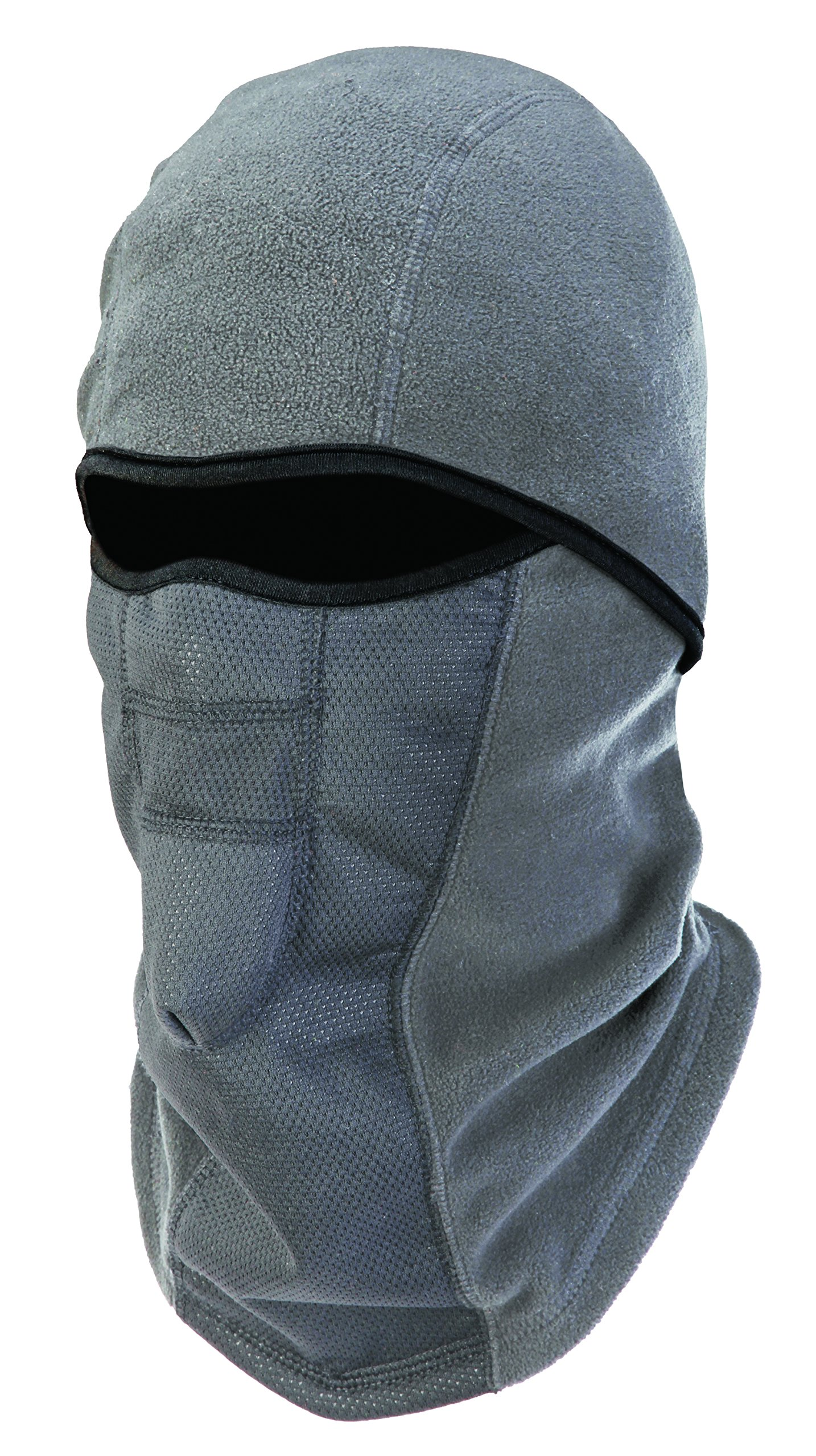 Ergodyne N-Ferno 6823 Winter Ski Mask Balaclava, Wind-Resistant Face Mask, Thermal Fleece, Gray by Ergodyne