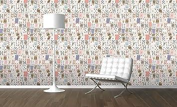 1 cartes jouer mural salle de jeux collage papier peint bois blanc
