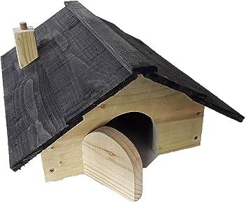 Blackdown Wood Crafts - Caseta de erizos de alta calidad con compartimento para nido: Amazon.es: Jardín