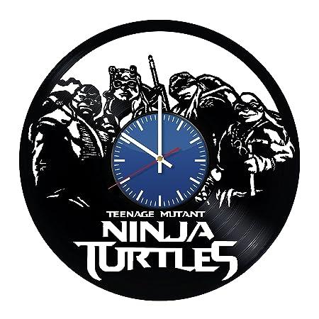 Tortugas Ninja Vinyl Record reloj de pared Vintage gran ...
