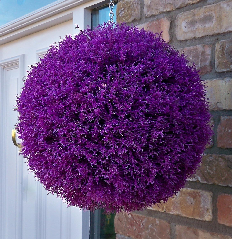 Artificial Topiary Balls Part - 41: 2 Best Artificial (TM) 30cm Purple Heather Topiary Balls, UV Fade  Protected: Amazon.co.uk: Garden U0026 Outdoors