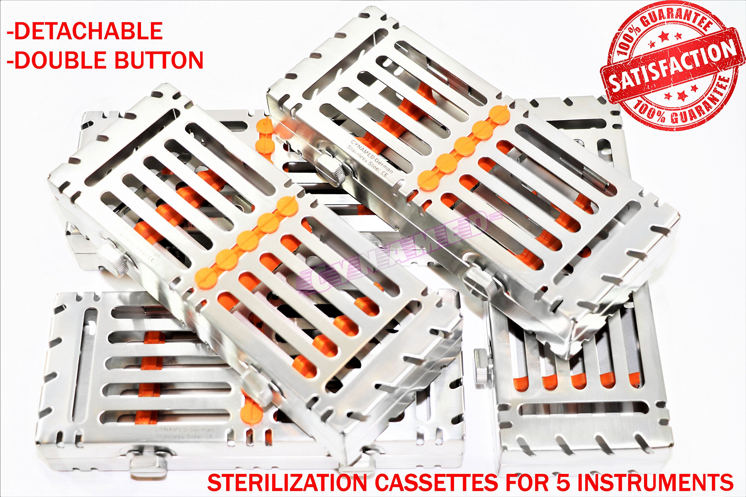 5 EA Sterilization Cassette with Double Buttons Detachable for 5 Instruments [CYNAMED]