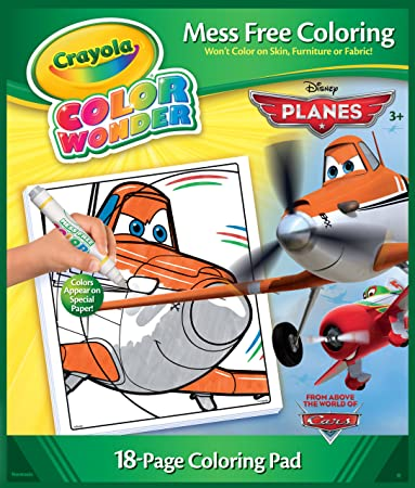 Crayola Color Wonder, Disney Planes Coloring Book and Markers, Mess Free  Coloring, Gift for Ages 3, 4, 5, 6