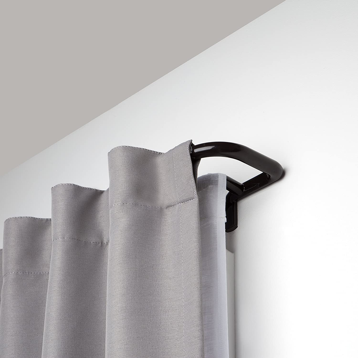 Umbra Twilight Double Curtain Rod Set – Wrap Around Design is Ideal for Blackout Curtains or Room Darkening Curtains, 28 to 48 Inch, Auburn Bronze 1005799-797-REM