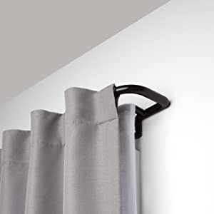 Umbra Twilight Double Rod Set – Wrap Around Design is Ideal for Blackout Room Darkening Curtains, 28 to 48 Inch, Auburn Bronze, 48-inch