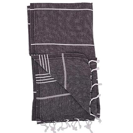 Amazon.com: Essential Turkish Towel Peshtemal in 100% Cotton for ...