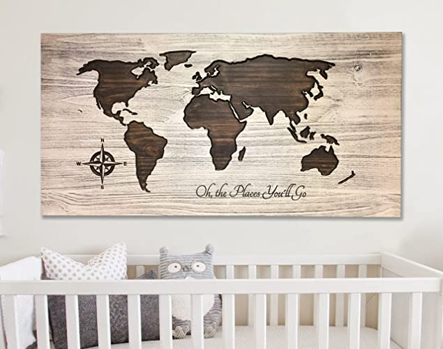 Amazon nursery room decor oh the places youll go world map nursery room decor oh the places youll go world map art gumiabroncs Gallery