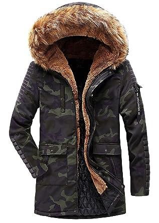 presenting cheap sale best value YYZYY Homme Haute Qualité Hiver Parka Manteaux a Capuche Doudoune Cotton  Blousons Chaud Épais Fourrure Veste Capuche Amovible Mens Winter Hooded Coat