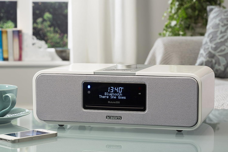 Roberts Radio Blutune 200/DAB + Bluetooth Sound System//CD Player, Recording Function, SD//USB