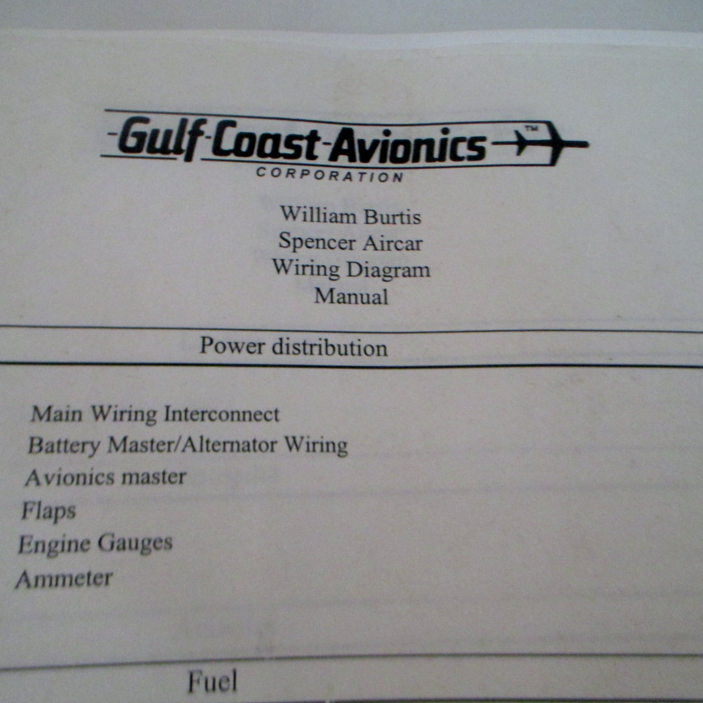 Spencer Aircar Shematic Drawings Wiring Diagram Manual Drawn up by Gulf  Coast Avionics: Bill Burtis: 0763985703716: Amazon.com: Books