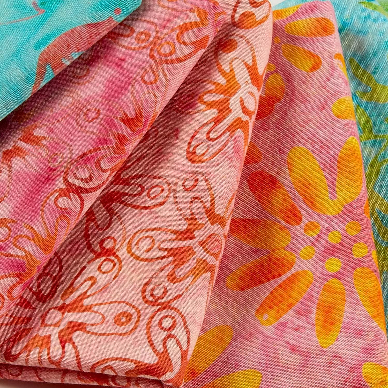 Anthology Batiks Jacqueline De Jonge Melody Fat Quarter Bundle 12pcs Multi