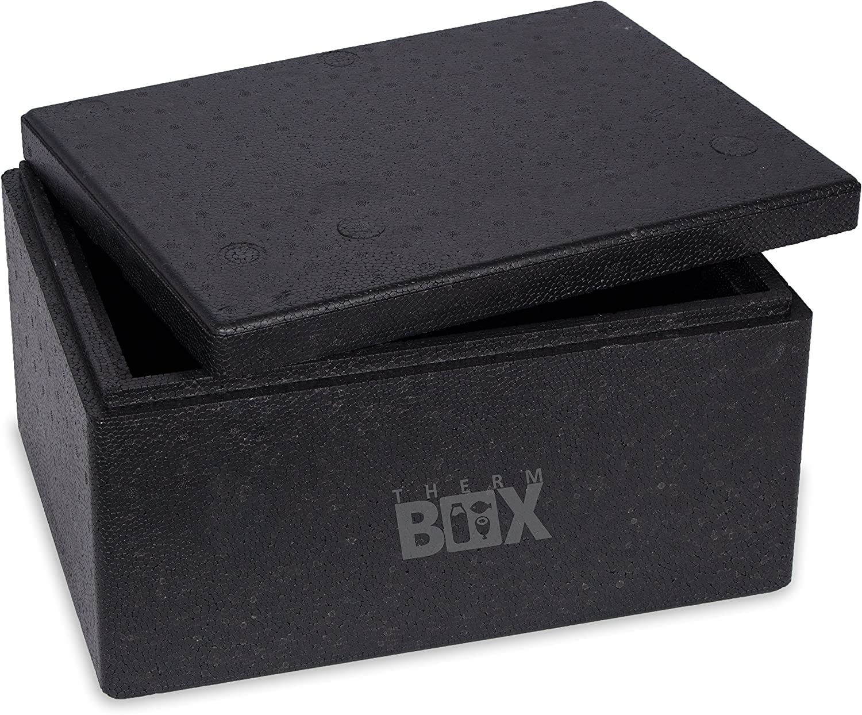 Caja profesional M 40,0 x 30,0 x 21,0 cm, pared: 3,0 cm, V=12,24 litros, reutilizable, caja térmica para mantener el calor, caja para pizza – fuerte y resistente: Amazon.es: Deportes y aire libre