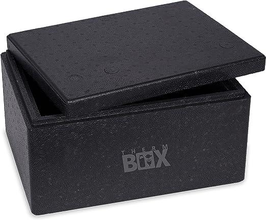 Caja profesional M 40,0 x 30,0 x 21,0 cm, pared: 3,0 cm, V=12,24 litros, reutilizable, caja térmica para mantener el calor, caja para pizza – fuerte y resistente: Amazon.es: Hogar