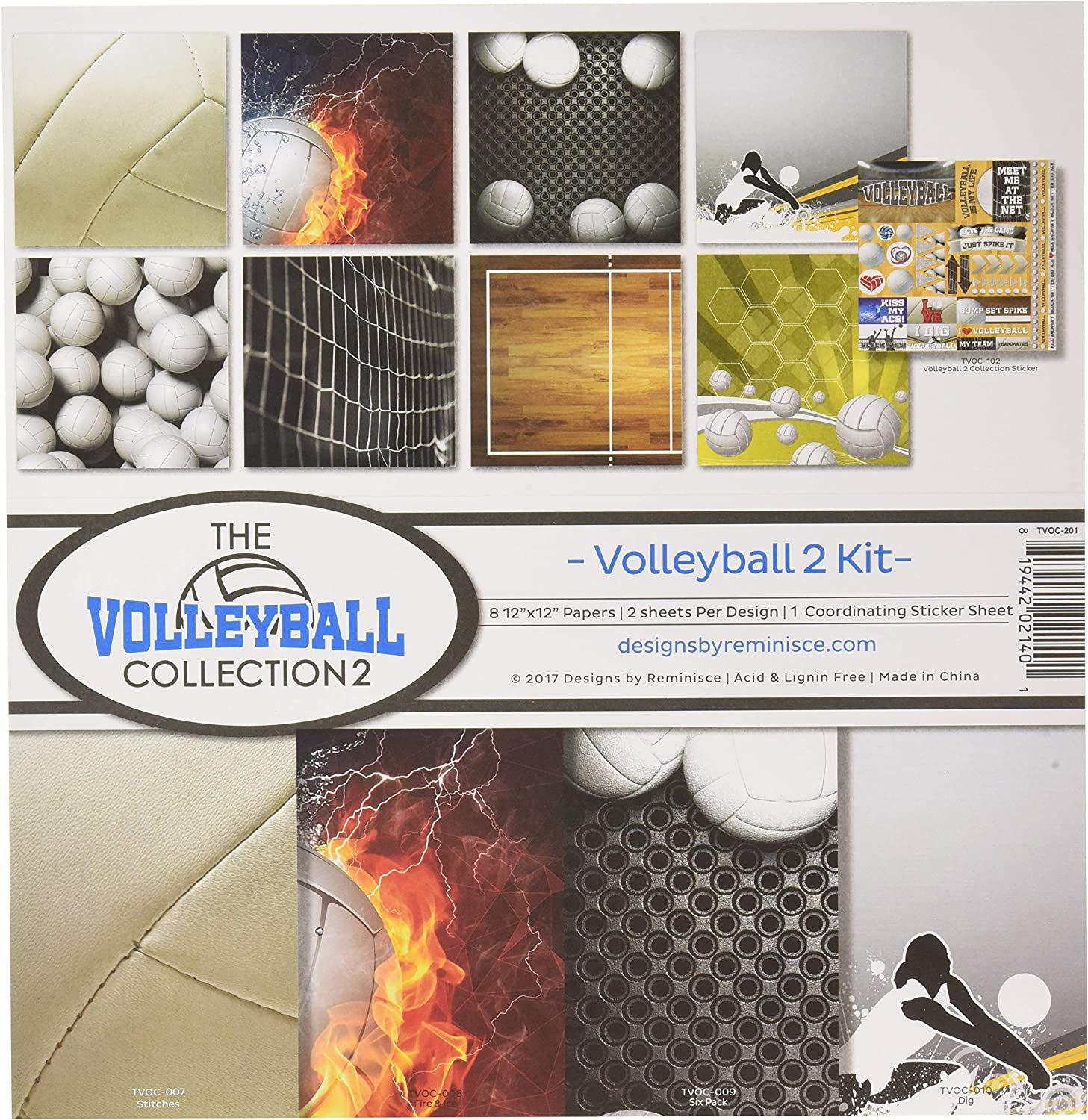 Reminisce The Volleyball Collection 2 Scrapbook Kit