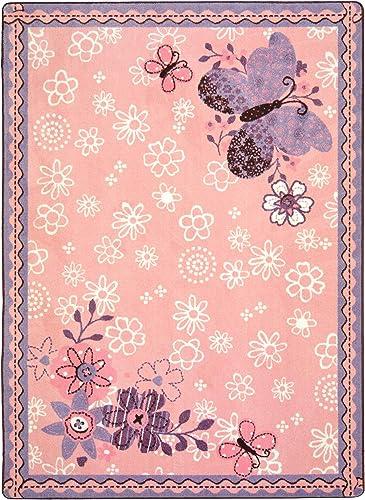 Joy Carpets Kid Essentials Infants Toddlers Flower Fields Rug
