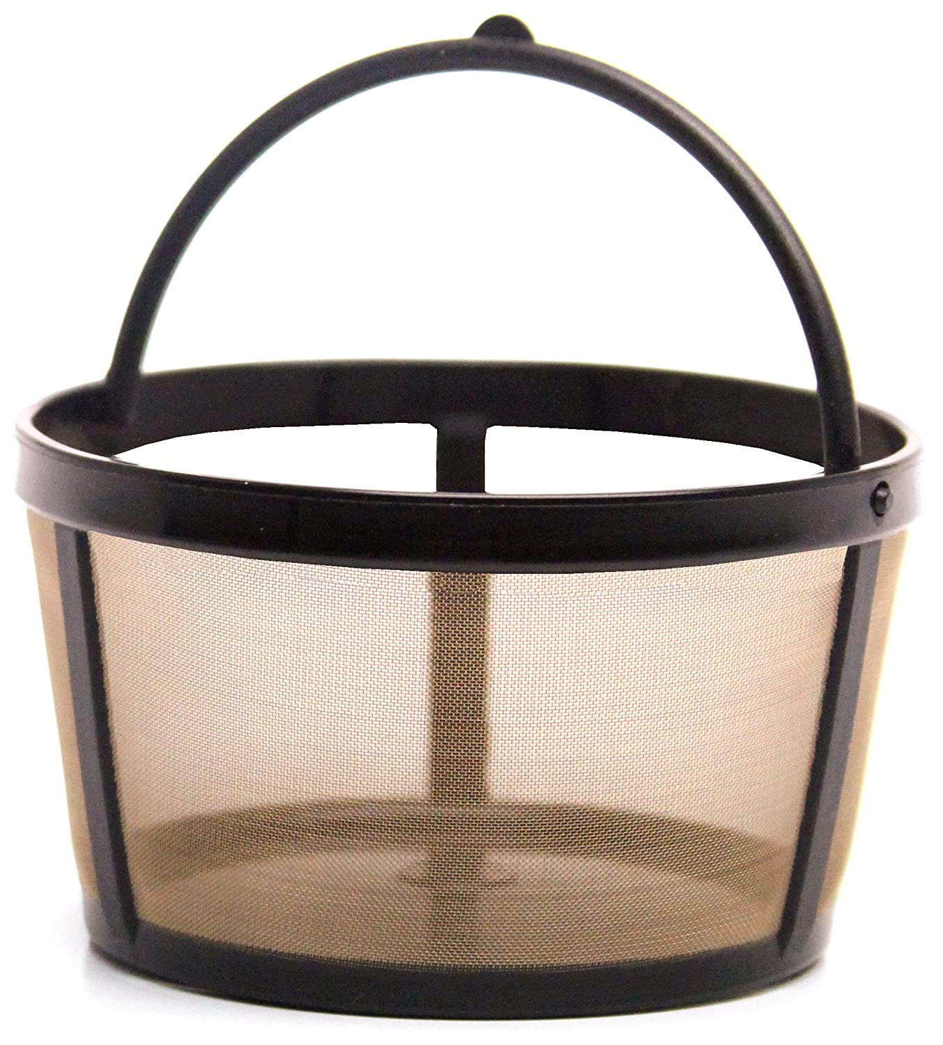 THE ORIGINAL GOLDTONE BRAND Reusable Basket-style 4-8 Cup Coffee Filter with Handle.