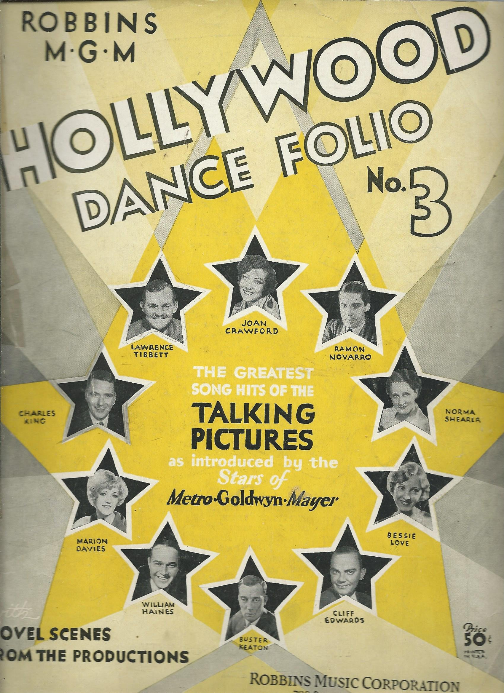 Hollywood Dance Folio No 3: The Greatest Hits of Talking Pictures (Metro Goldwin Mayer) Sheet Music