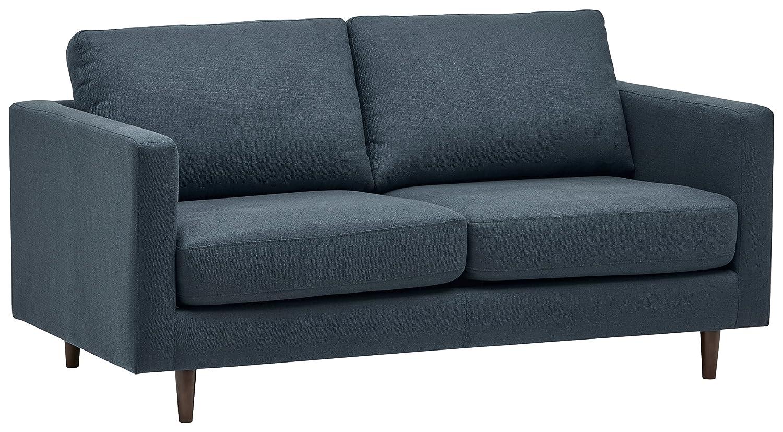Amazon com rivet revolve modern sofa bed 70w denim kitchen dining