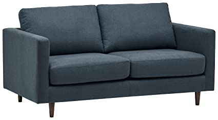Amazoncom Rivet Revolve Modern Sofa Bed 70 W Denim Kitchen