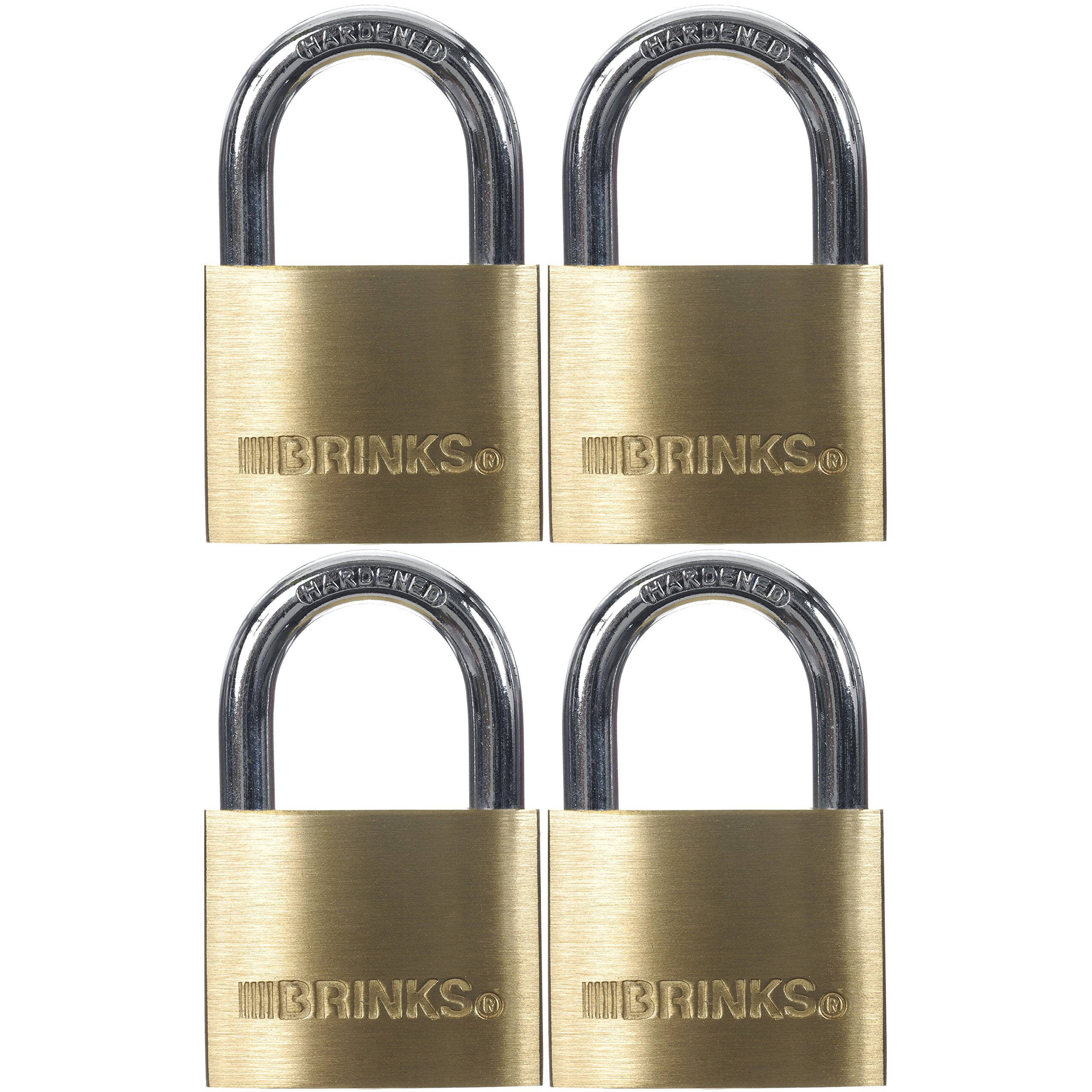 Brinks 171-40401 40mm Solid Brass Padlock, 4 Pack by Keeper