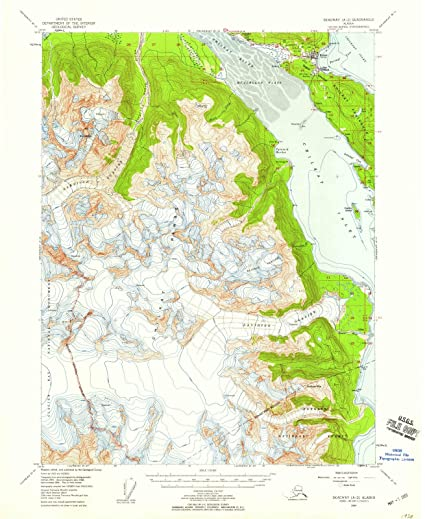 Amazon.com: Alaska Maps | 1954 Skagway, AK USGS Historical ...
