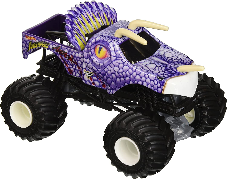 Amazon Com Hot Wheels Monster Jam Jurassic Attack Vehicle Toys Games