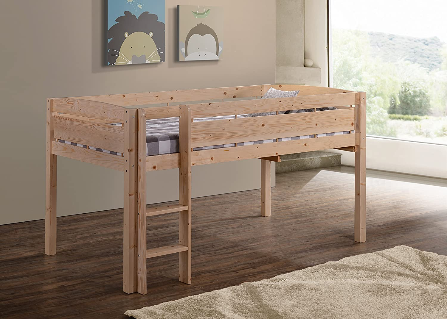 Amazon.com: Canwood Whistler Junior Loft Bed, Natural: Kitchen & Dining