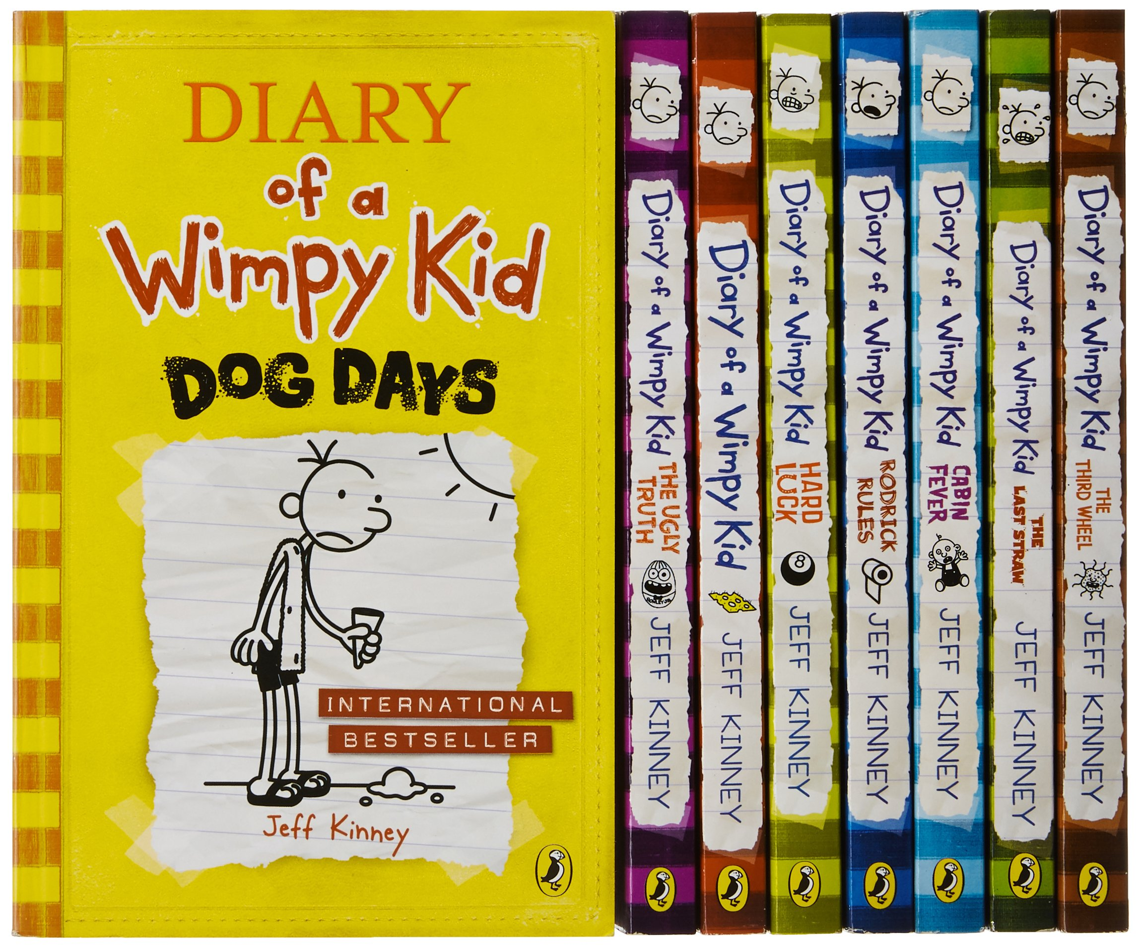 Diary of a Wimpy Kid Box of Books 1-8 + The Do-It-Yourself Book: Kinney, Jeff: 9781419715389: Amazon.com: Books