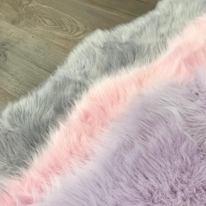 Fake fur area rug Perfect for babys room playroom Star Large Light Grey nursery Soft and silky Machine Washable Faux Sheepskin Light Grey Star Area Rug 3 x 3