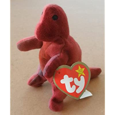 TY Teenie Beanie Babies Rex the Tyrannosaurus Rex Stuffed Animal Plush Toy: Toys & Games