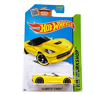 Hot Wheels, 2015 HW Workshop, '14 Corvette Stingray Convertible [Yellow] 216/250: Toys & Games