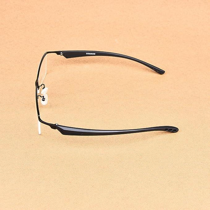 Amazon.com: Tan suave viento titanio ligero anteojos hombres ...