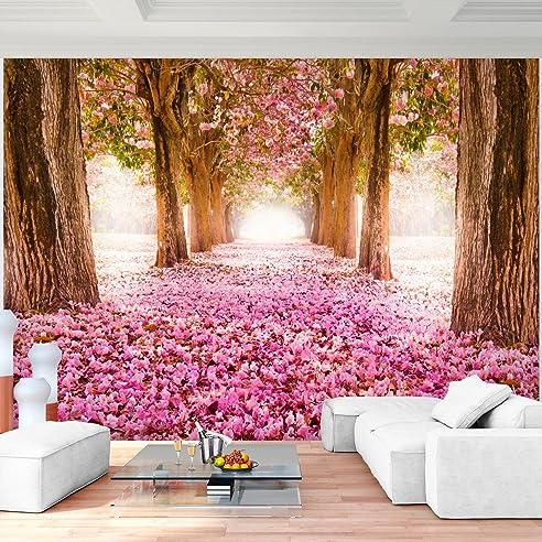 Fototapete Wald Allee Vlies Wand Tapete Wohnzimmer Schlafzimmer Büro Flur  Dekoration Wandbilder XXL Moderne Wanddeko