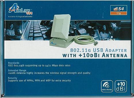AirLink awll3055 USB 2.0 Adaptador inalámbrico con antena de alta ganancia de 10dBi