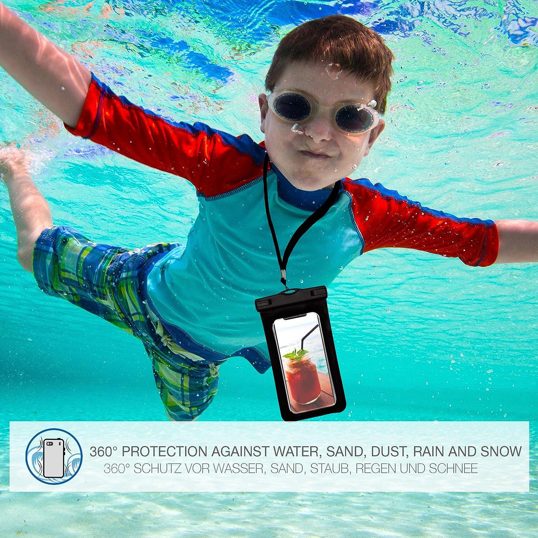 Gr/ün Palm-Green OneFlow/® wasserdichte Handy-H/ülle f/ür alle Apple iPhone Armband und Schlaufe zum Umh/ängen Touch- /& Kamera-Fenster