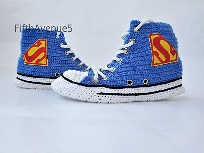 e5da3883fcfc Amazon.com  Handmade Cartoon Warm Cotton Crochet Slippers