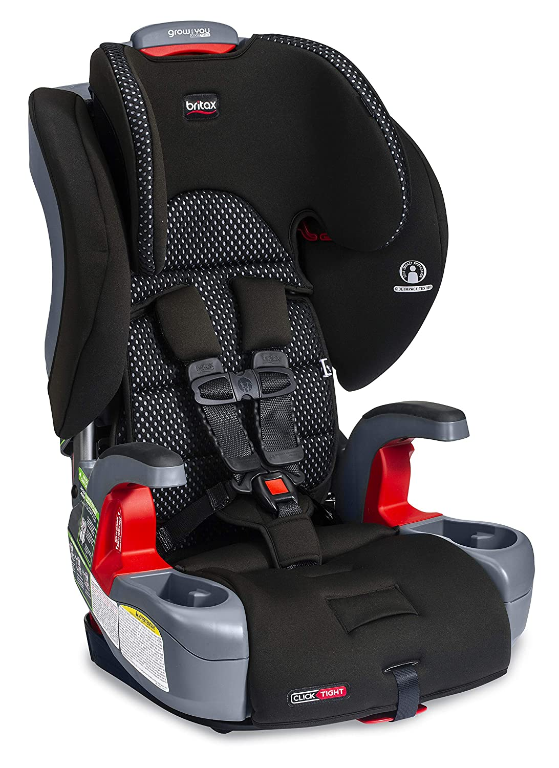 Britax Grow with You ClickTight Harness-2-Booster Car Seat - 2 Layer Impact Protection - 25 to 120 Pounds, Cool Flow Gray [Newer Version of Frontier]