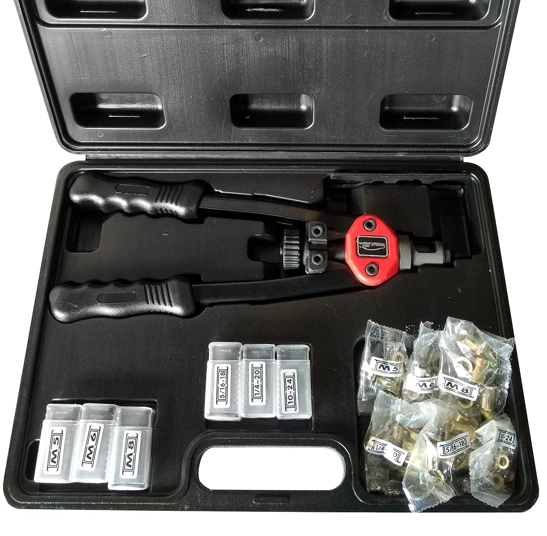 Hand Riveter Gun Kit 13 Rivet Nutsert Tool Riv Nuts Pneumatic Threaded Pop W/Rivet Nuts Winmax