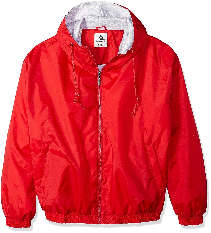 fb53690e Amazon.com: Augusta Sportswear Unisex-Adult Hooded Taffeta Jacket/Fleece  Lined: Clothing