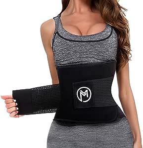MERMAID'S MYSTERY Waist Trimmer Trainer Belt for Women Men Weight Loss Premium Neoprene Sport Sweat Workout Slimming Body Shaper Sauna Exercise