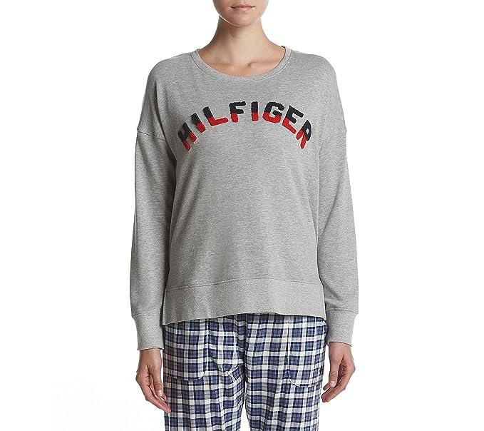 Tommy Hilfiger Para mujer Hilfiger Prep Pullover Parte superior de pijama - Gris -