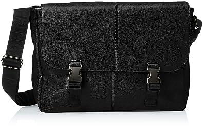 Armani Exchange Messenger Bags, Sac homme, Noir (Nero), 27.0x11.0x34 ... 27f55ba69ae