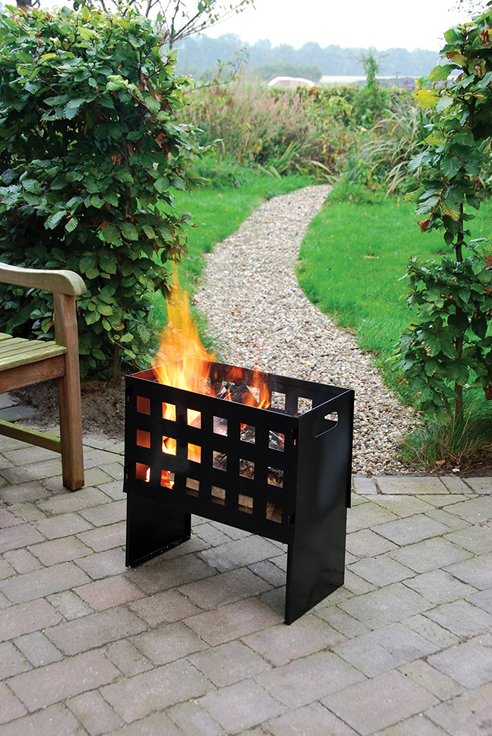 Esschert Ff88 50 x 50 x 31cm Fire Basket Rectangle Cast-Iron - Black Esschert Design