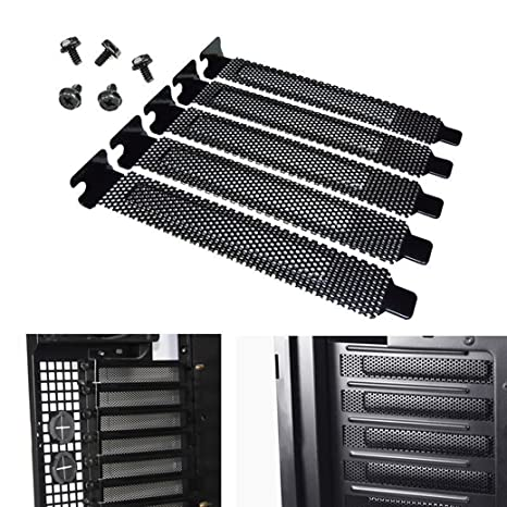 Black PCI Bracket Slot Cover for Corsair Obsidian Series Cases and Others