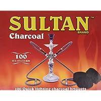 Sultan Hookah Charcoal 100 Quick Lighting Briquets
