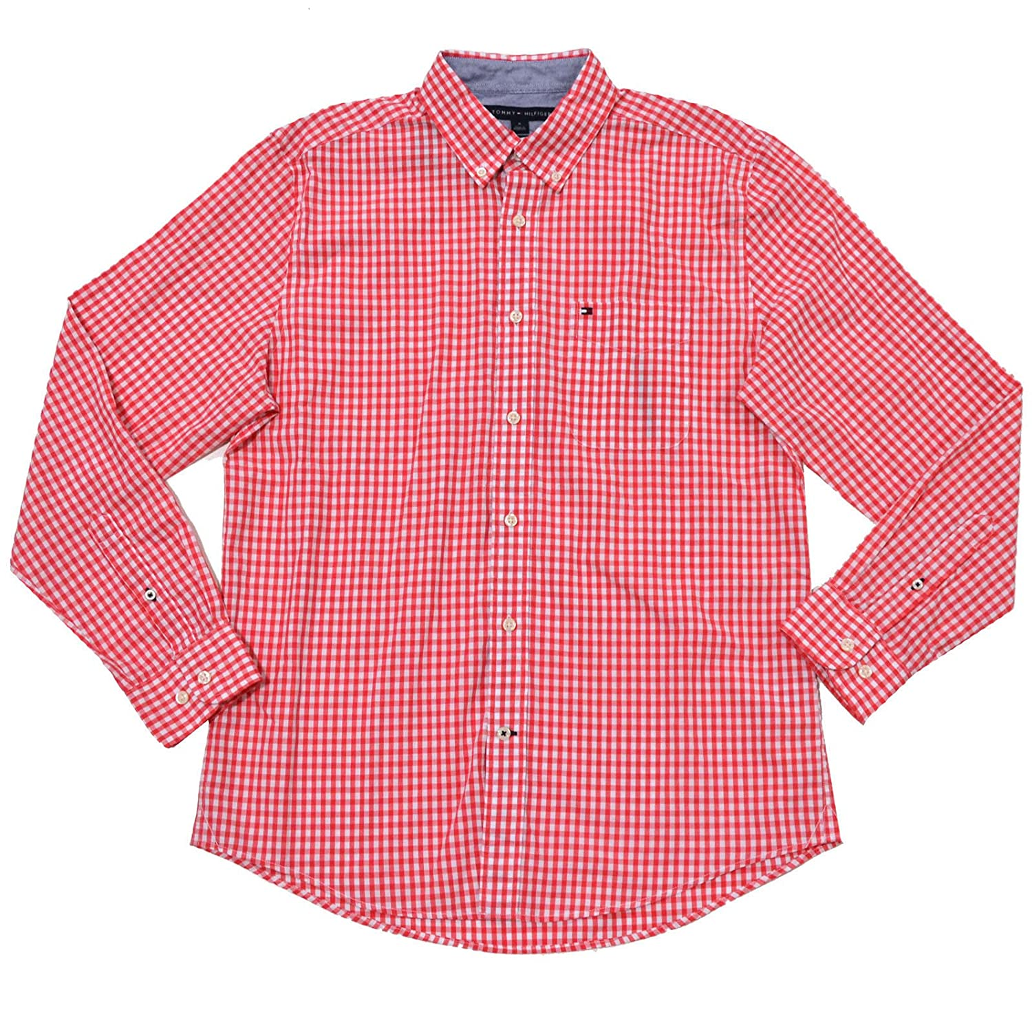 Tommy Hilfiger Mens Classic Fit Long Sleeve Gingham Buttondown At